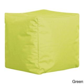 Sitting Point Oxford Fabric Cube Brava Pouf (Option: Green)