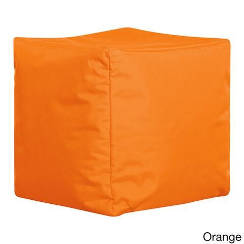 Sitting Point Oxford Fabric Cube Brava Pouf