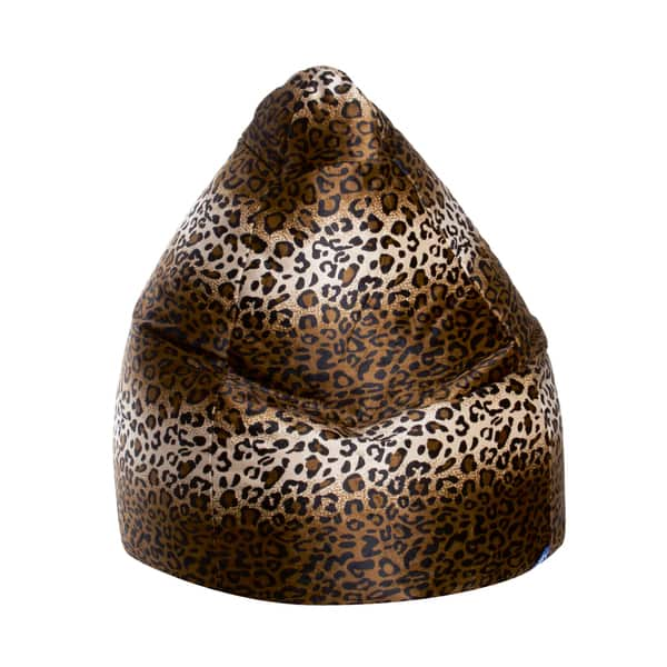 Wondrous Sitting Point Afro Animal Print Velvet Extra Large Bean Bag Ocoug Best Dining Table And Chair Ideas Images Ocougorg