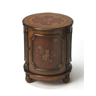Butler Thurmond Red Hand Painted Drum Table