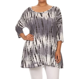 MOA Collection Women's Plus Size Polka Dot Top