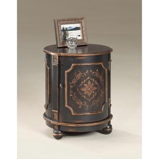 Butler Thurmond European Black Painted Drum Table