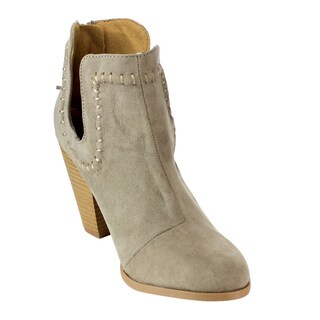 Qupid Women's Faux Suede Ankle Booties