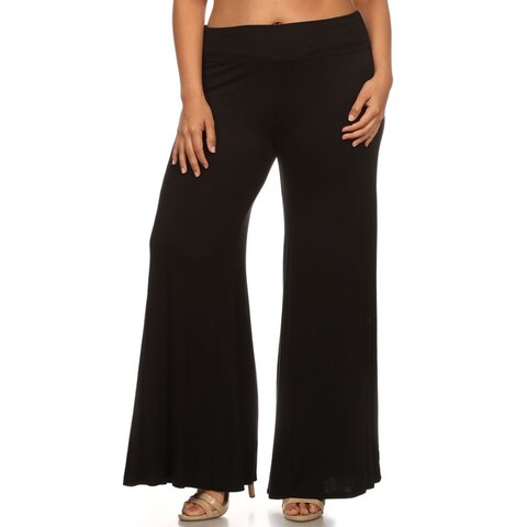 Women's Plus Size Solid Color Palazzo Pants