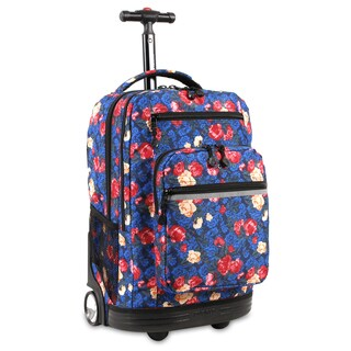 J World Sundace Vintage Rose Rolling 15-inch Laptop Backpack