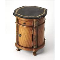 Butler Fossil Stone Drum Table
