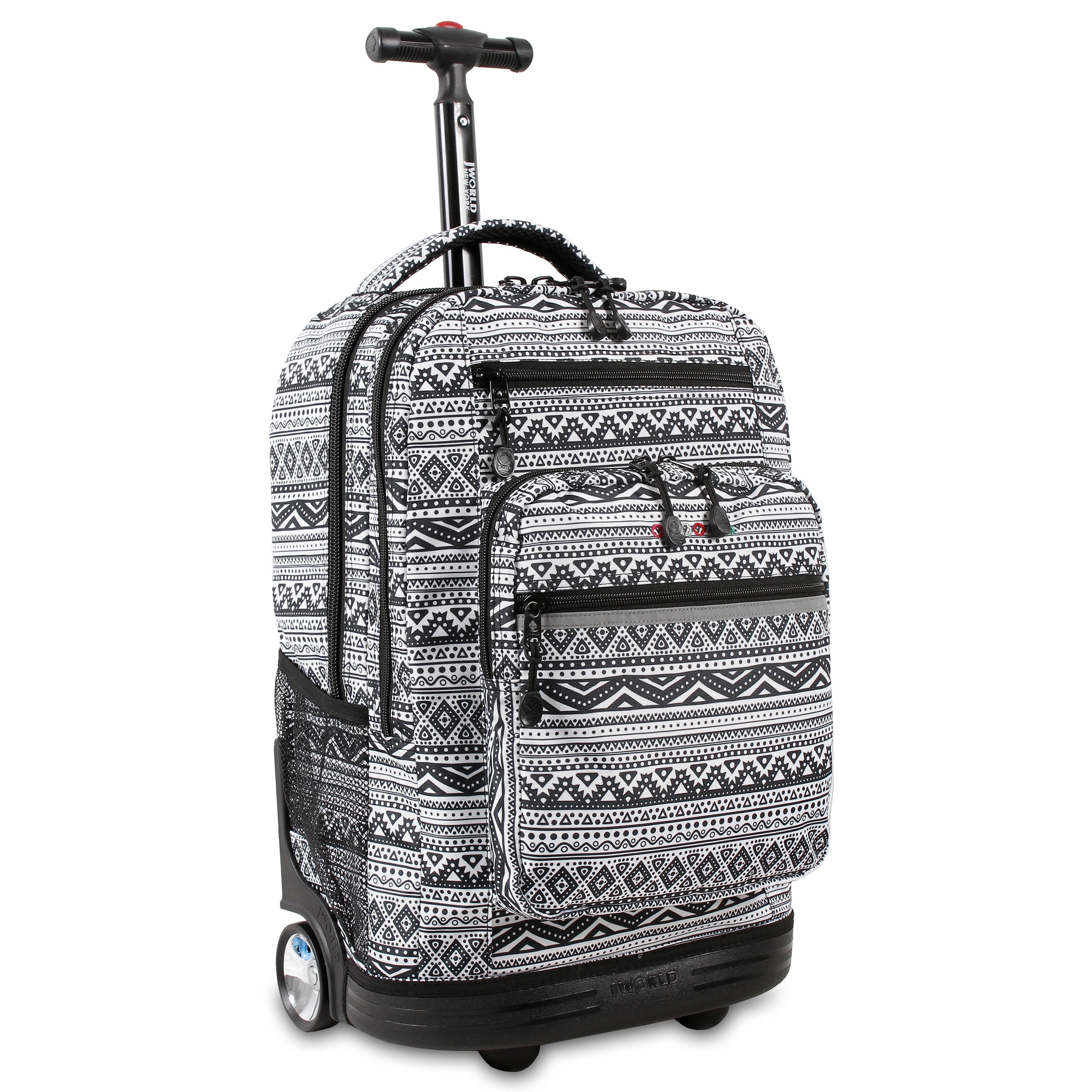 J World Sundace Tribal Rolling 15-inch Laptop Backpack (S...