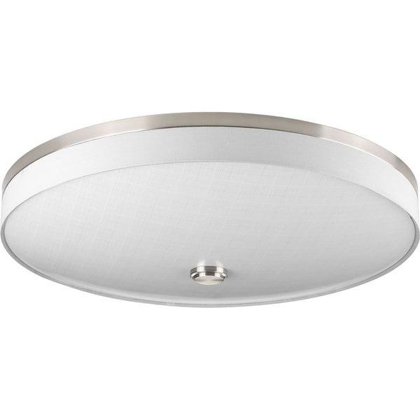 Led Light Fixture Flush Mount: Shop Progress Lighting P3612-0930K9 Weaver LED 3-light