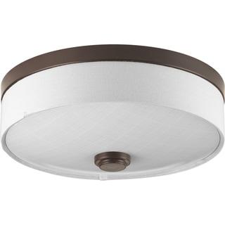 Progress Lighting P3610-2030K9 Weaver LED Bronze Steel 10-inch 1-light Flush Mount with AC LED Module