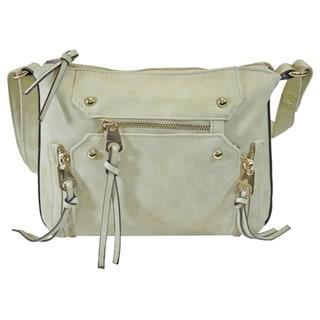 Moda Women's Faux Leather Multifunctional Lightweight Crossbody Travel Handbag