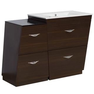 43.5-in. W x 18.5-in. D Plywood-Melamine Vanity Set In Wenge