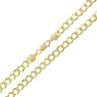 10k Gold 5.5mm Solid Cuban Curb Link Chain Necklace