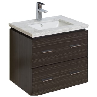 23-in. W x 17-in. D Modern Wall Mount Plywood-Melamine Vanity Base Only In Dawn Grey