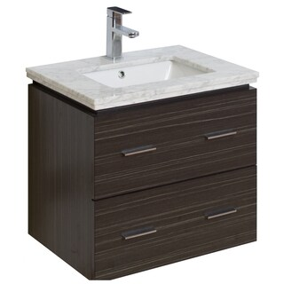 23-in. W x 17-in. D Modern Wall Mount Plywood-Melamine Vanity Base Only In Dawn Grey - Dawn Grey
