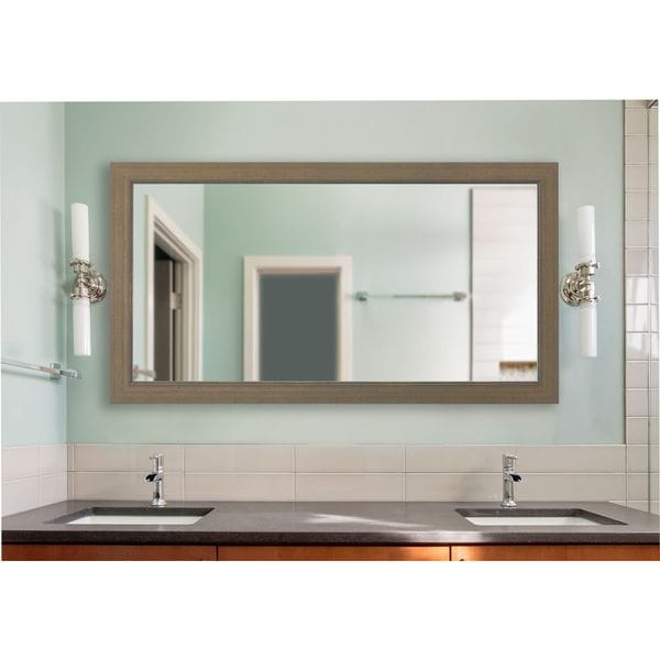 American Made Rayne Champagne Colville Extra Large 38.5 x 77.5-inch Vanity Wall Mirror