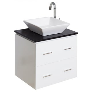 23-in. W x 17-in. D Modern Wall Mount Plywood-Veneer Vanity Base Only In White