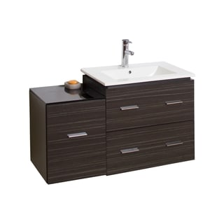 37-in. W x 17-in. D Modern Wall Mount Plywood-Melamine Vanity Base Only In Dawn Grey
