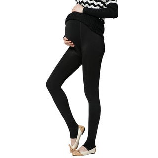 Women's Velvet-lined Adjustable Strap Maternity Leggings