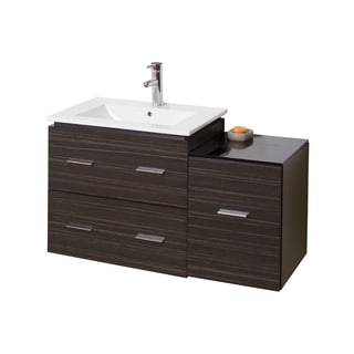 37-in. W x 18-in. D Modern Wall Mount Plywood-Melamine Vanity Base Only In Dawn Grey