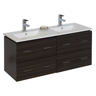 46-in. W x 17-in. D Modern Wall Mount Plywood-Melamine Vanity Base Only In Dawn Grey