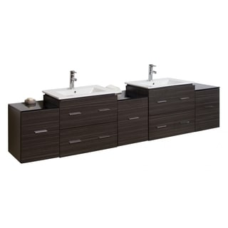 88-in. W x 17-in. D Modern Wall Mount Plywood-Melamine Vanity Base Only In Dawn Grey