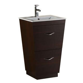 23-in. W x 18-in. D Modern Plywood-Melamine Vanity Base Only In Wenge