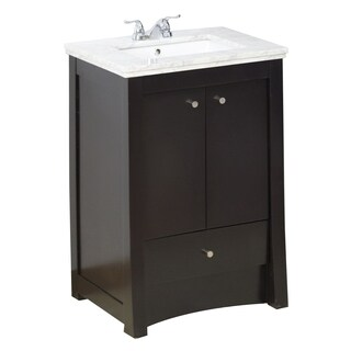 23-in. W x 17.75-in. D Transitional Birch Wood-Veneer Vanity Base Only In Distressed Antique Walnut