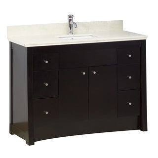 31-in. W x 17.5-in. D Transitional Birch Wood-Veneer Vanity Base Only In Distressed Antique Walnut