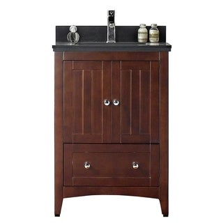 23.5-in. W x 18-in. D Modern Plywood-Veneer Vanity Base Only In Walnut - 23.5 x 18