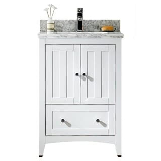 23.5-in. W x 18-in. D Modern Plywood-Veneer Vanity Base Only In White