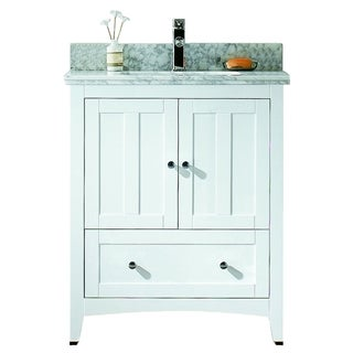 29.5-in. W x 18-in. D Modern Plywood-Veneer Vanity Base Only In White
