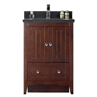 23.5-in. W x 18-in. D Modern Plywood-Veneer Vanity Base Set Only In Walnut