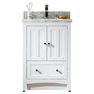 23.5-in. W x 18-in. D Modern Plywood-Veneer Vanity Base Set Only In White
