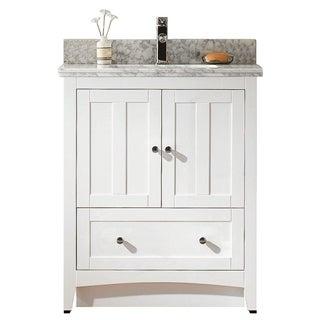 29.5-in. W x 18-in. D Modern Plywood-Veneer Vanity Base Set Only In White