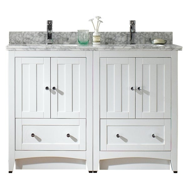 oxford 48 inch antique white traditional double sink bathroom vanity