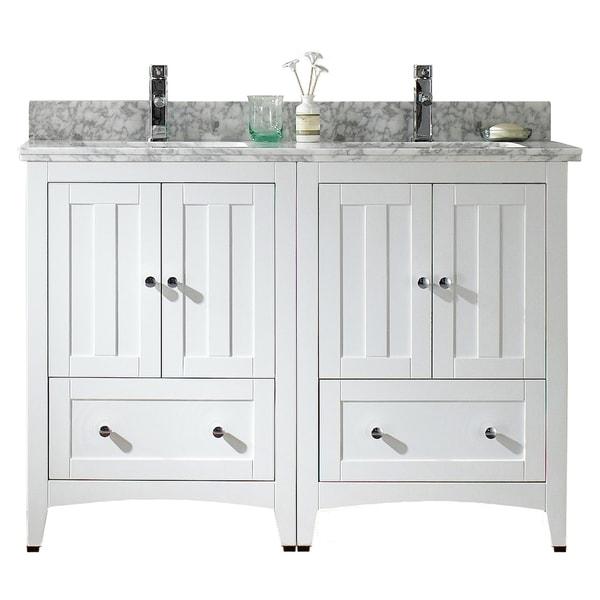 in w x 18 in d modern plywood veneer vanity base set only in white