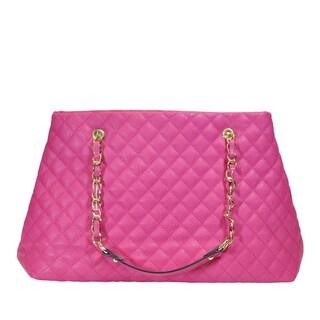 Moda Women's Multicolor Faux Leather Large Capacity Stylish Tote Bag