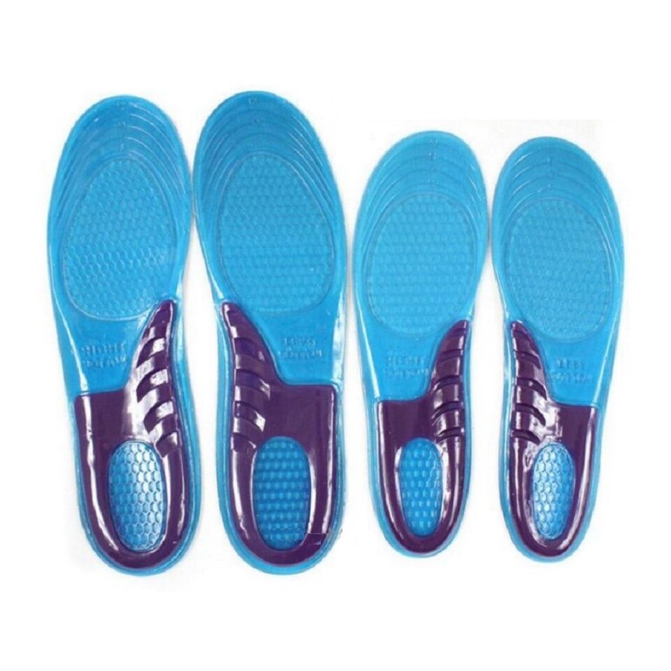 Unisex Men Silicone Insoles Pads Cushion Foot Shoe Gel Walking Running Massage