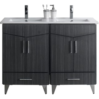 48-in. W x 17-in. D Modern Plywood-Melamine Vanity Base Set Only In Dawn Grey