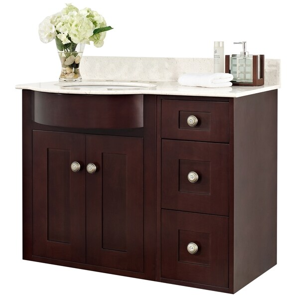 shop 36in w x 22in d transitional wall mount cherry