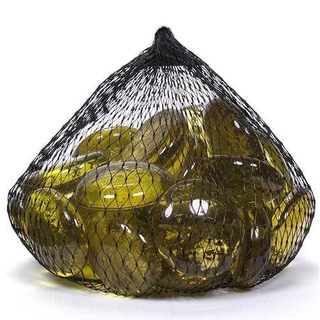 Yellow/Purple/Clear Glass Large Gems 20 12-ounce Bags (Case of 15 Pounds)