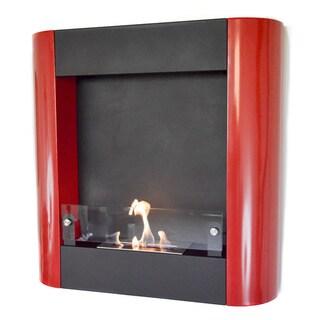 Nu-Flame Focolare Muro Rosso Ethanol Fireplace