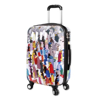 J World Penguin 21-inch Hardside Upright Carry-on Spinner Suitcase