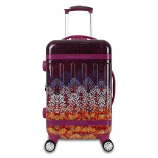 J World Taqoo Art Collection Dusk 20-inch Fashion Hardside Carry-on Spinner Suitcase