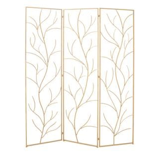 Natural Metal 60-inch x 79-inch Attractive 3-panel Screen