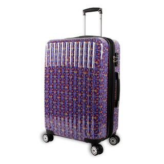 J World Titan Art Collection Squares Polycarbonate Hardside Spinner Upright Suitcase