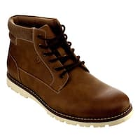 Arider Men's Tan/Black Faux Leather High-top Boots (As Is Item)