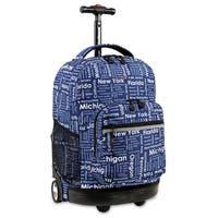 J World Sunrise Road Trip 18-inch Rolling Backpack