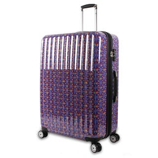 J World Titan Art Collection Squares 29-inch Fashion Hardside Spinner Upright Suitcase