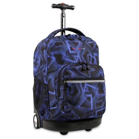 J World New York Sunrise 18-inch Rolling Backpack - Disco